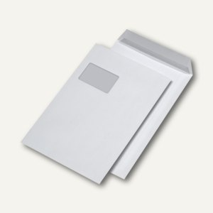 Versandtaschen C4, mit Fenster, haftklebend, 120 g/m², weiß, 250 St., 388320