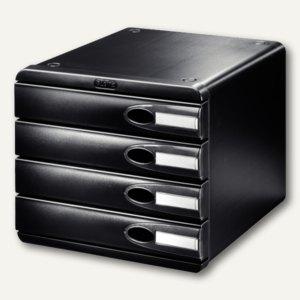 LEITZ Schubladenbox Allura, DIN A4+, 4 Schübe, schwarz, 5206-00-95