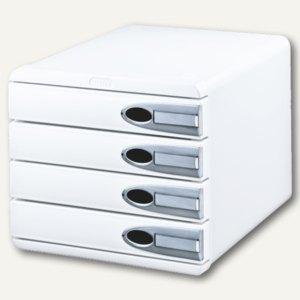 LEITZ Schubladenbox Allura, DIN A4+, 4 Schübe, weiß, 5206-00-01