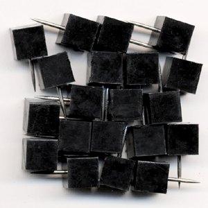 Markiernadeln quadrat. Kopf: 8.5 mm, Nadel: 11.5 mm, schwarz, 20 St., 1761-11