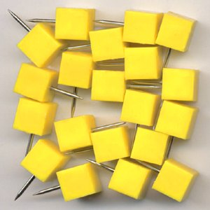 Markiernadeln quadrat. Kopf: 8.5 mm