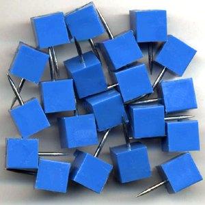 Alco Markiernadeln quadrat. Kopf: 8.5 mm, Nadel: 11.5 mm, blau, 20 Stück,1761-15