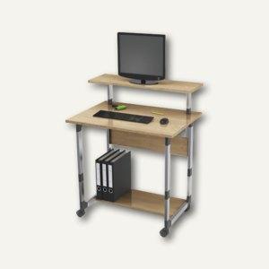 Durable Computertisch 85 VH, höhenverstellbar, silber/Buche, 3718-124