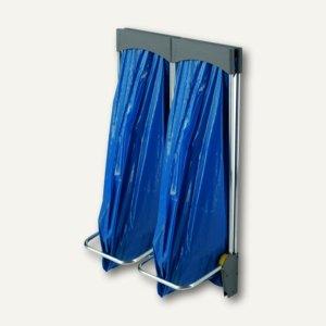 Hailo Abfall-System ProfiLine ASS 120, 2 x 120 l, wandhängend, Pedal, 0924-300