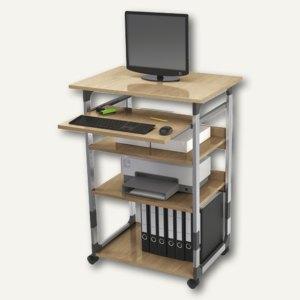 "Durable PC-Arbeitsplatz ""Computer Trolley"" 75 VH, metallic-silber/buche,3720-124"