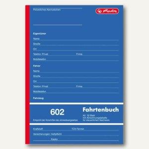"""Herlitz Formularbuch """"Fahrtenbuch 602"""", DIN A5 hoch, 32 Blatt, 840637"""