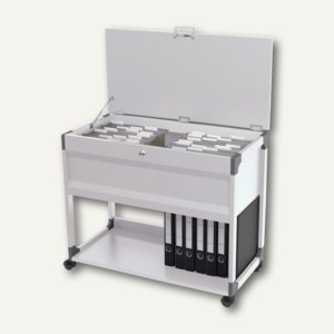 Durable Mappenwagen SYSTEM File Trolley 100 Multi Top, abschließb., grau,3787-10