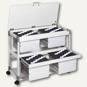 "Durable Mappenwagen ""SYSTEM File Trolley 200 Multi Duo Top"", lichtgrau, 3788-10"