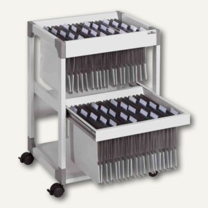 Durable Mappenwagen SYSTEM File Trolley 80 Multi Duo, grau, 3791-10