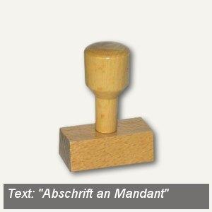 Vorgangsstempel Abschrift an Mandant