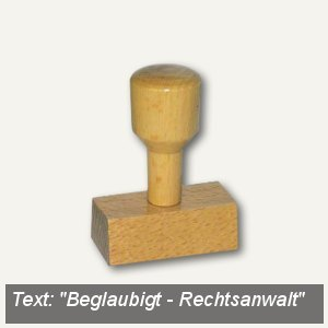 "Vorgangsstempel ""Beglaubigt - Rechtsanwalt"", Holz"
