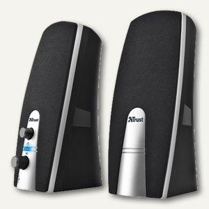 Trust Lautsprecherset MiLa 2.0, 5 Watt RMS, USB-Betrieb, schwarz/silber, 16697