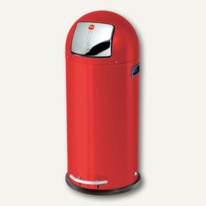 Hailo Tret-Abfallsammler KickMaxx 50, 50 Liter, Stahlblech, rot, 0850-579
