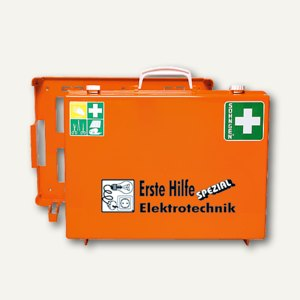 SÖHNGEN® Erste-Hilfe-Koffer Spezial Elektrotechnik, DIN 13157, orange, 0360113