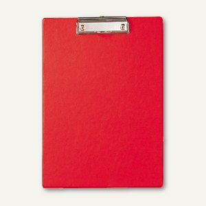 MAUL Schreibplatte / Klemmbrett mit Folienüberzug, DIN A4, rot, 2335225