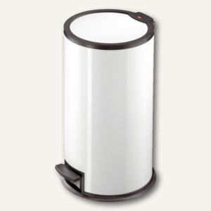 Hailo Tret-Abfallsammler T3.16, 16 Liter, Stahlblech, weiß, 0516-062