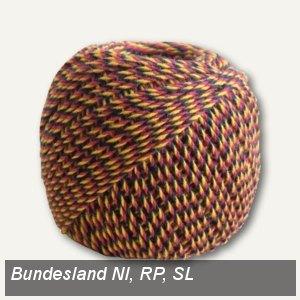"""Notariatsgarn """"Niedersachsen, Rheinl.-Pfalz, Saarl."""", 36m, schw./rot/gold, 25453"""