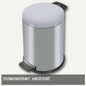 Tret-Abfallsammler ProfiLine Solid 14, Stahlblech, Inneneimer verzinkt, silber,