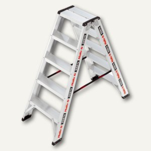 Doppelstufenleiter ChampionsLine D225, 2x 5 Stufen, 225 kg, Aluminium, 8725-001