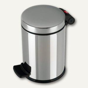 Hailo Tret-Kosmetikeimer ProfiLine Solid 4, 4 Liter, Edelstahl, 0704-060