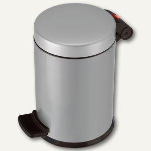 Hailo Tret-Kosmetikeimer ProfiLine Solid 4, 4 Liter, Stahlblech, silber,0704-160