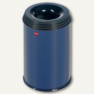 Hailo Papierkorb ProfiLine Safe 15, flammenlöschend, Stahl, blau, 0915-322