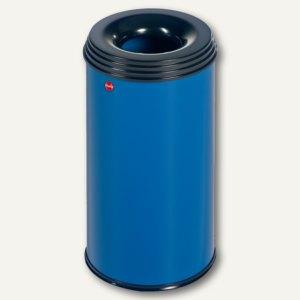Hailo Papierkorb ProfiLine Safe 20, flammenlöschend, Stahl, blau, 0920-322