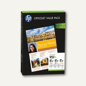 HP Tintenpatronen Nr.951XL, Multipack, cmy + 75 Blatt A4-Papier, CR712AE
