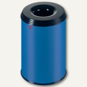 Hailo Papierkorb ProfiLine Safe 30, flammenlöschend, Stahl, blau, 0930-322