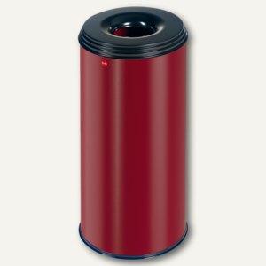 Hailo Papierkorb ProfiLine Safe 50, flammenlöschend, Stahl, rot, 0950-522