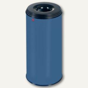 Hailo Papierkorb ProfiLine Safe 50, flammenlöschend, Stahl, blau, 0950-322