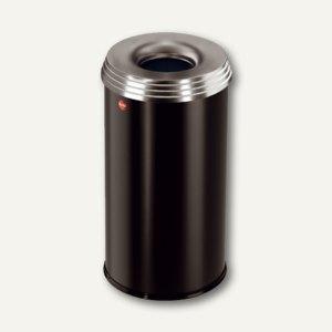 Hailo Papierkorb ProfiLine Safe Pro 20, flammenlöschend, Stahl, schwarz,0920-442