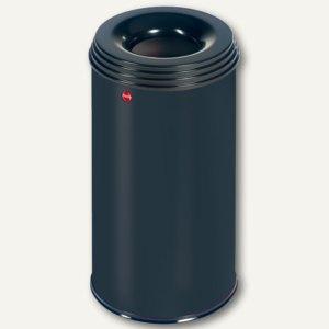 Hailo Papierkorb ProfiLine Safe Pro 20, flammenlöschend, Stahl, schwarz,0920-422