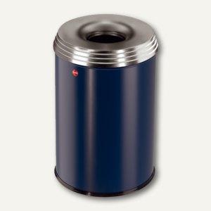 Hailo Papierkorb ProfiLine Safe Pro 30, flammenlöschend, Stahl, blau, 0930-342