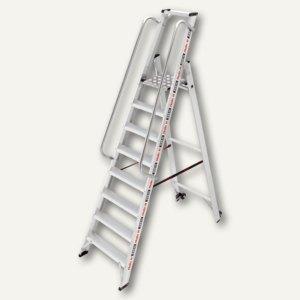 Hailo Plattformleiter ChampionsLine P225 plus, 8 Stufen, mit Rollen, 8208-101