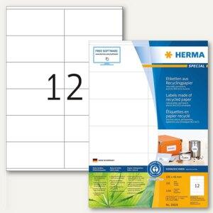 "Herma Universal-Etiketten ""Recycling"", 105 x 48 mm, weiß, 1.200 Stück, 10828"