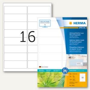 "Herma Universal-Etiketten ""Recycling"", 99.1 x 33.8 mm, weiß, 1.600 Stück, 10825"