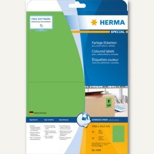 "Herma Universal-Etiketten ""SPECIAL"", 199.6 x 143.5 mm, Rand, grün, 40 Stück,4499"