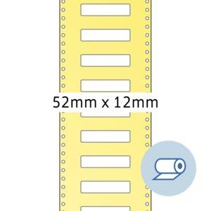 Rollenetiketten - 52x12 mm Wicklung außen, seidenmatt, weiß, 5.000 Stück, 4065