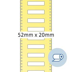 Rollenetiketten - 52x19.5 mm, Wicklung außen, seidenmatt, weiß, 5.000St., 4066