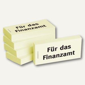 Haftnotizen bedruckt: Für das Finanzamt