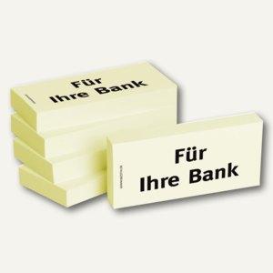 Haftnotizen bedruckt: Für Ihre Bank