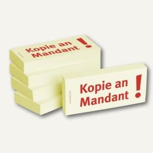 """officio Haftnotizen bedruckt: """"Kopie an Mandant!"""", 5 Stück"""