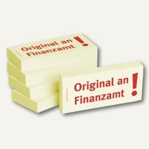 """officio Haftnotizen bedruckt: """"Original an Finanzamt!"""", 5 Stück"""