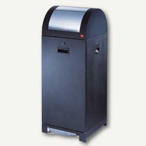Hailo Wertstoffbehälter ProfiLine WSB design 70P, fußbetätigt, schwarz, 0971-059