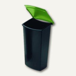 HAN Abfalleinsatz MONDO, 3 Liter, mit Deckel, schwarz/grün, 1843-05