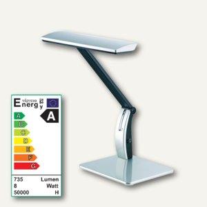 Alco LED-Tischleuchte 9150, Kopf/Arm verstellbar, dimmbar, silber/schwarz, 9150