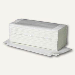 Handtuchpapier Ideal, V-Falz, 1-lagig, 250 x 230 mm, Zellstoff, hochweiß, 403110
