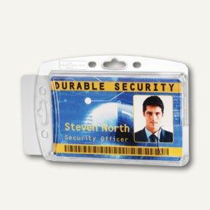 Ausweishalter ohne Befestigung, 87 x 54 mm, geschlossen, doppelt, 10 Stück, 8924