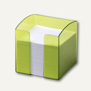 Zettelkasten TREND inkl. 800 Blatt, quadratisch, transl.-hellgrün, 6 St., 170168